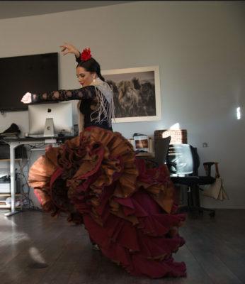 Flamenco dancer, in original version